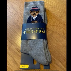 Ralph Lauren Underwear Socks Nwt Justin Thomas Polo Bear Socks In Gray Poshmark